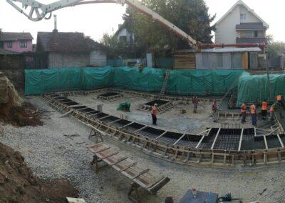 Belladona 7 29.10.2019. Betoniranje temelja za garazni deo
