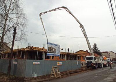 Zgrada Jovi 04.02.2020. Betoniranje ploce iznad prizemlja